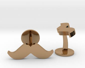 Moustache Cufflinks   Grooms Wedding Cuff links