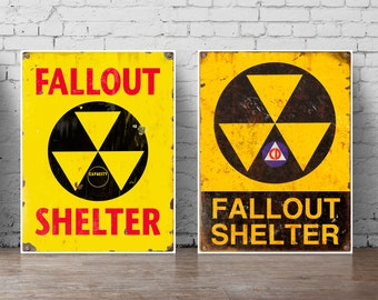 Fallout shelter poster set A5-A0 large wall decal fallout wall decal fallout print set fallout wall art office bedroom minimalist poster 001