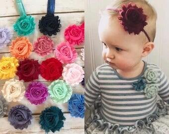 PICK 6 Baby Headbands/Newborn Headband/Baby Girl Headband/Toddler Headband/Infant Headband/Shabby Chic Headband/Girl Headband/Baby Hair Bow