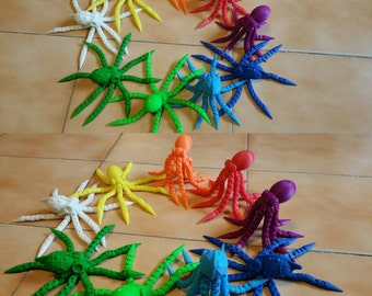 octopus, 3d printed, geek, art, animals, 3d printed octopus, colourful, perfect gift, cute animals, 3d printed animals, figures, christmas