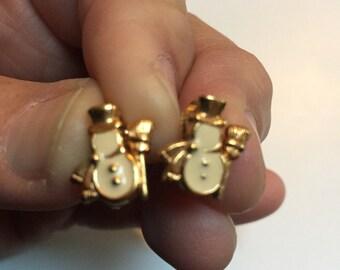 Avon Snowman Clip On Earrings