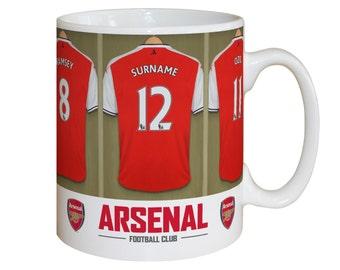 Arsenal Gifts - Arsenal Personalised Gift - Arsenal Dressing Room Mug