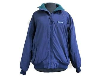 Vintage Eddie Bauer Jacket, 80s Jacket Navy Blue Green, Sz L Womens Fleece Lined Winter Coat, Vintage Coat, Vintage Jacket, Outdoor Clothing