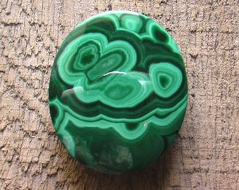 Natural Malachite Cabochon Stone
