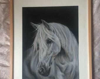 White Horse Original painting