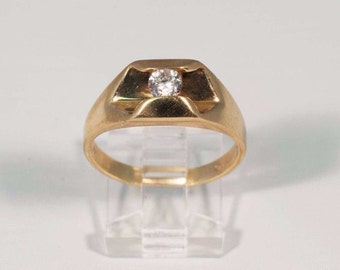 14K Yellow Gold Mens .40 ct. Diamond Ring, Size 10.25