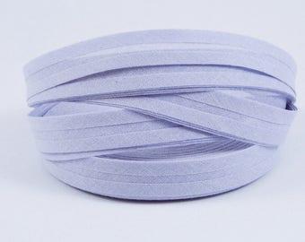 25m Bias binding 14mm 14/7 cotton Purple lavender
