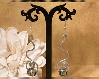 Silver Bendable Wire Earrings