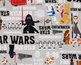 """Star Wars Fabric made in Japan Darth Vader FQ 45cm by 53cm or 18"""" by 21"""""""