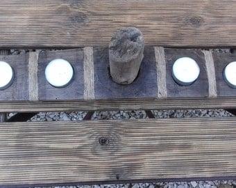 Driftwood candle holder, handmade. Hand-made.