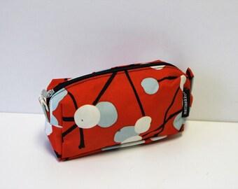 Marimekko cosmetic bag / Marimekko purse Makeup bag  Red Blue