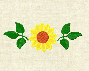 Machine embroidery design flowers,  applique flower, Sunflower 1-3