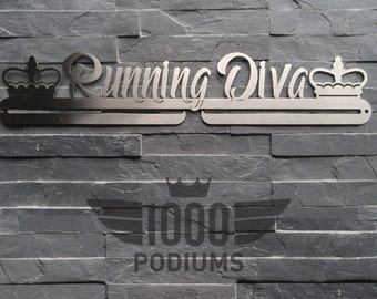IMPERFACT ITEMS SALE Medal Rack - Running Diva with acrylic Gems