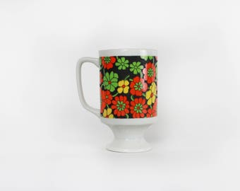 70's Ceramic Floral Mug