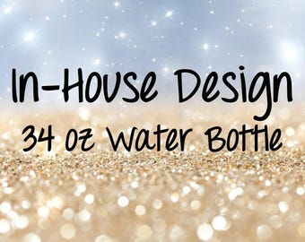 In House Design on 34 oz Water Bottle