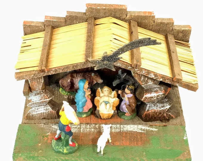 15 Off Coupon On Vintage Italian Creche Paper Mache Christmas