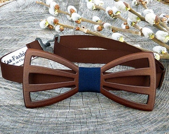 Gift for Men|Gift for Him|Gift for husband|gift for dad|Bow tie wood|natural wood|Brown Bowtie|Mens birthday gift|birthday gift|Gift ideas