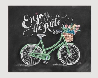 Bicycle Chalk Art - Enjoy the Ride