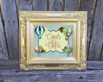Adventure Baby Shower Theme - Party Decor - Hot Air Balloons - Tabletop Sign - Cards & Gifts - Digital File