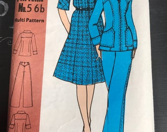 Vintage Dress Pattern Family Circle 56b