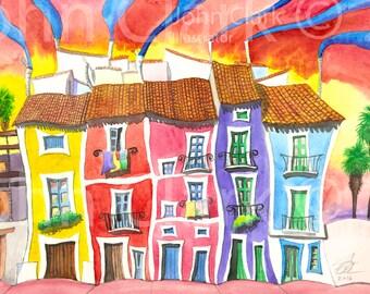 Spanish Village Sunset 1