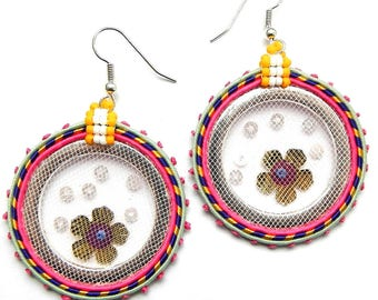 Soutache earrings new collection handmade Candy colors of summer colours with pastel Fashion original jewelry model