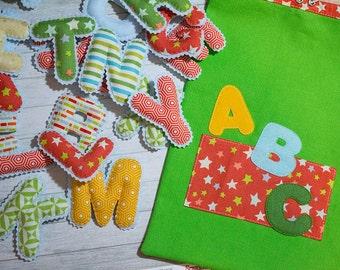 Magnet alphabet Felt letter Alphabet letters Refrigerator magnets Home decor magnet Preschool learning toy Stuffed letters Kids gift toddler
