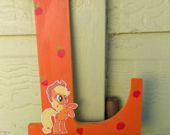 "My little pony ""AppleJack"" custom letter"