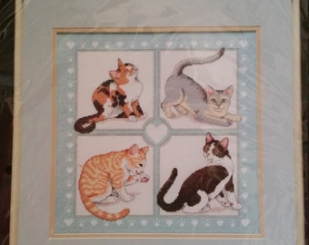 Feline Foursome Counted Cross Stitch Kit By Dimensions