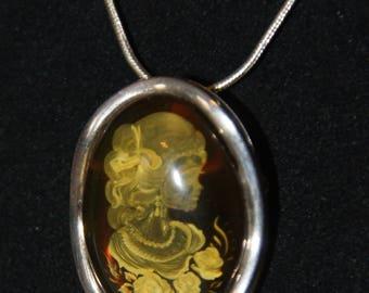 Baltic Amber Pendant/Brooch