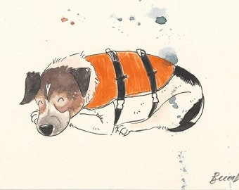 Original illustration - Dog in Coat