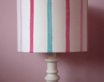 Handmade Lampshade Laura Ashley Painterly Pink Stripe