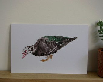 Card duck for parties and occasions in recycled paper