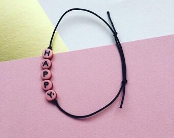 Happy Bracelet // Happy Armband