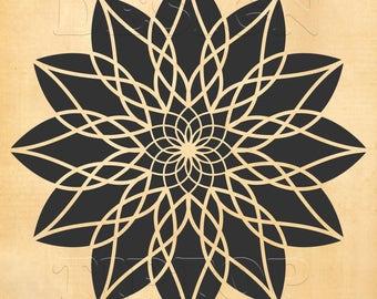 mandala svg art mural mandala tatouage mandala conception de t shirt pochoir with pochoir mural. Black Bedroom Furniture Sets. Home Design Ideas