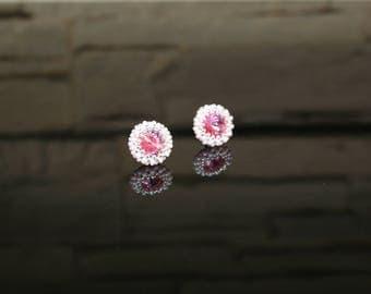 "Small earrings ""Rose"""