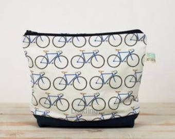 Cyclists Small White Wash bag Toiletries Travels