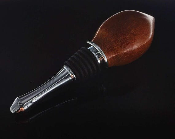 Leopardwood Wine Bottle Stopper