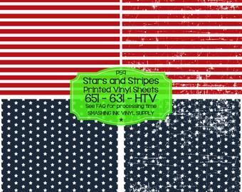 Stars & Stripes Vinyl/Printed Heat Transfer Vinyl/Patterned Vinyl/Printed 651 Vinyl/Printed 631 Vinyl/Printed Outdoor Vinyl/Printed HTV