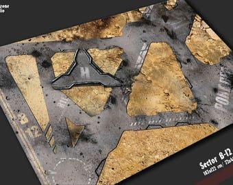 Neoprene battle mat: Sector B-12 - a mouse pad city in a desert, terrain for 28mm scale model board games -  Warhammer 40k, Horus Heresy
