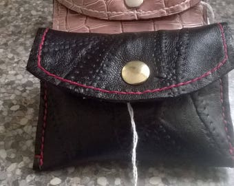 Hand made Leather Wallet / coin purse.