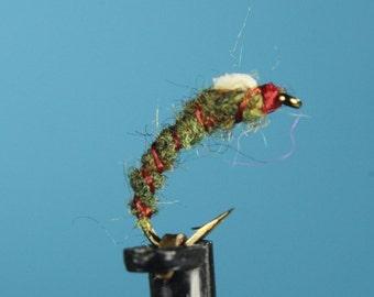 "3-pack ""The Jailbird"" flies, fly fishing flies, Trout flies, hand tied flies, Midge flies, nymph flies"