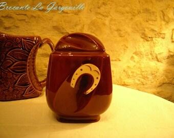 Ceramic Vintage APPEAREAD, Horseshoe decor box