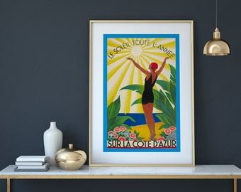 Vintage French Travel Poster Print