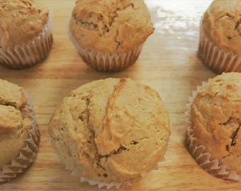 SUGAR FREE Peanut Butter Muffins (Or Sugar-Added) | Jelly Optional for Peanut Butter and Jelly (PB&J) Muffins!