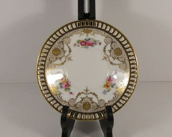 Cauldon China England Pierced and Gilded for the Cowell & Hubbard Co. in Cleveland, Ohio circa 1900.
