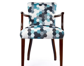 SOLD Geometric Hexagon Occasional Chair