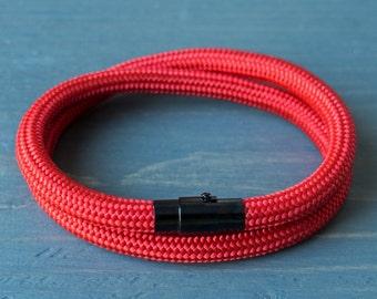 Paracord Bracelet | Wrap Bracelet | Red Bracelet | Mens Bracelet | Womens Bracelet