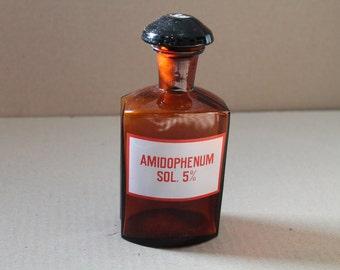 Vintage pharmacy glass  bottle-348g