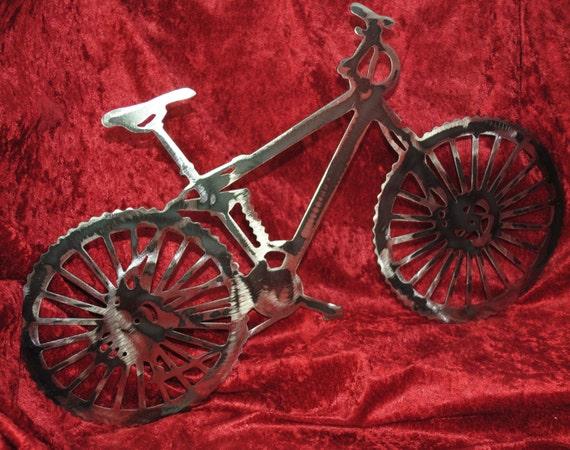 Mountain Bike, Old School 10 Speed, Wall Art Hanging, Metal Art, Metal Bicycle Art, Bicycle Enthusiast, Mountain Bicycle Rider Gift